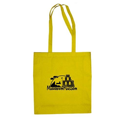 Planet Nerd Mushroom Castle - Stofftasche/Beutel, Farbe: gelb (Toad Gelbe Kostüm)
