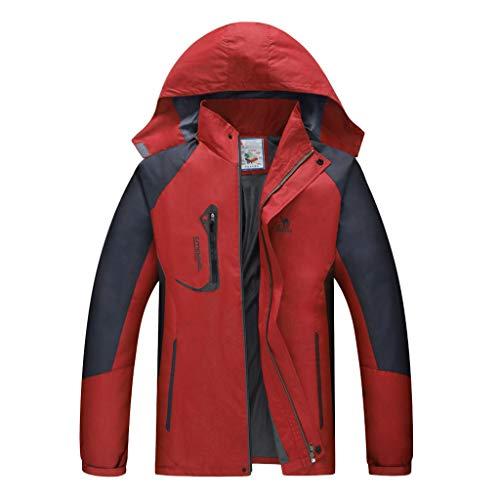Maglione uomo cappotto inverno antivento e impermeabile all'aperto maniche lunghe felpa con cappuccio hoodie distintivo sweatshirt camicetta dolcevita classico tops qinsling