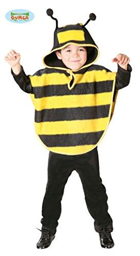 Biene Kostüm Cape für Kinder Gr. 98 - 116, Größe:110/116 (Honig Biene Kostüm Kind)