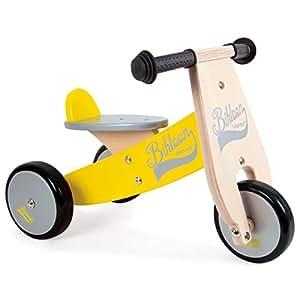 Janod - 4503262 - Porteur - Little Bikloon en gris/jaune