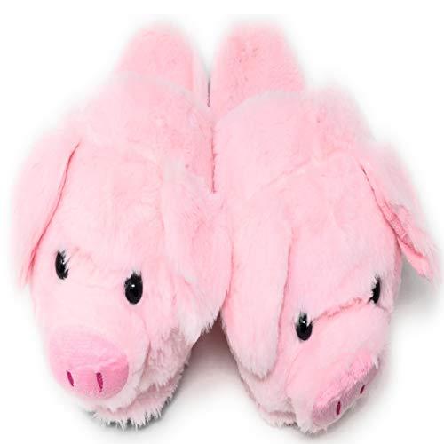 eBoutik Pink Pig Slippers Girls Boys Ladies Novelty Christmas Piggy Piglet 5-6