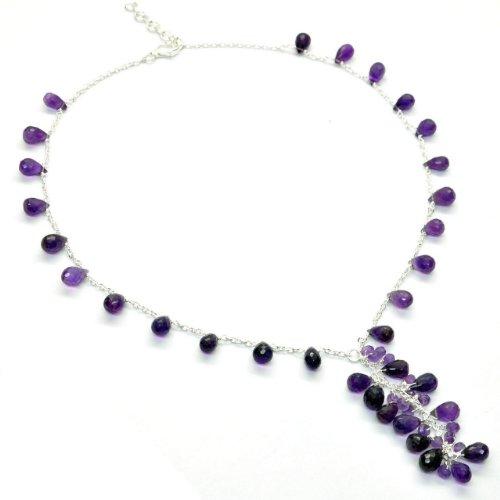 Franki-Baker-Amethyst-und-Sterling-Silber-925-Halskette