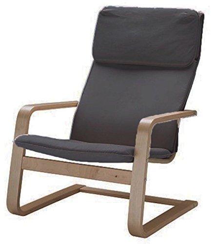 Custom Slipcover Replacement Der Pello Stuhl Baumwolle Abdeckungen Ersatz ist nach Maß für IKEA Pello Stuhl-Abdeckung Dunkelgrau