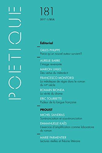 Poétique, N° 181/2017 : por Collectif