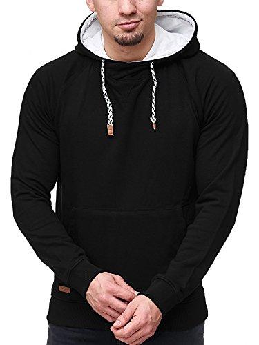 INDICODE Herren Santos Sweatshirt Langarmshirt Pullover Black
