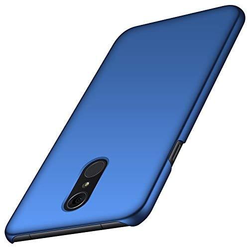 anccer LG Q7 Hülle/ Q7 Plus Hülle/ Q7 Alpha Hülle, [Serie Matte] Elastische Schockabsorption und Ultra Thin Design für LG Q7/ Q7 Plus/ Q7 Alpha (Glattes Blau)
