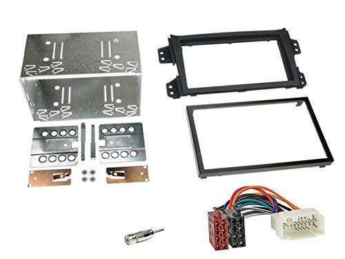 Kenwood-DMX120BT-2-DIN-Digital-Media-Receiver-Bluetooth-Shortbody-Bluetooth-passend-fr-Suzuki-Splash-2008-2014-schwarz