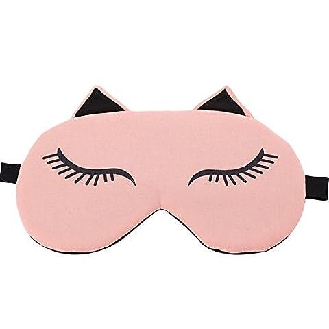 Esther Beauty Schlafmaske / Augenmaske mit Verstellbarem Gummiband für die Schlafenszeit und Reisen