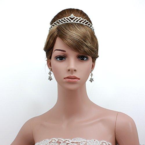 shmily Premium boda brillantes Diadem Tiara Corona Diadema de pelo cabello novia joyas plata nuevo dh0011