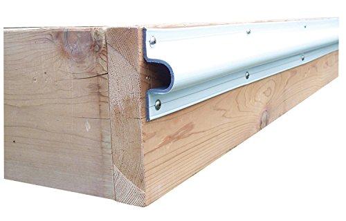 "Dock Edge + Economy ""C"" Guard PVC Profile - White, 10 ft Test"