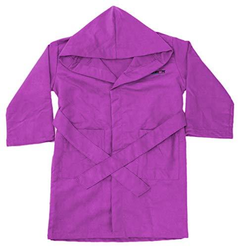 NONUET - Albornoz Microfibra Colores Lisos Infantil Violeta, 4-5