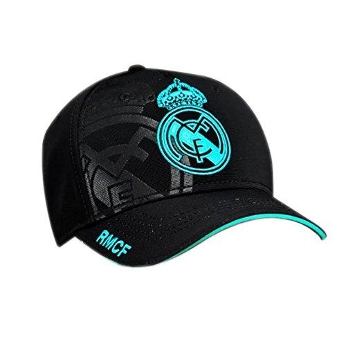 Gorra 2ª Equipación Real Madrid 2017-2018 - Producto Oficial Licenciado. Color Negro - Niño talla ajustable.
