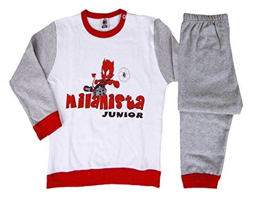 Bekleidung Baby Schlafanzug Kind Teufelchen Offizielle AC MILAN * 19425 Einheitsgröße Weiß / Grau - Ac Milan-bekleidung