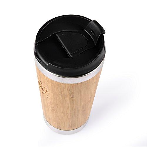 Kaffee Thermobecher aus Bambus von OUTDOOR FREAKZ – 450 ml - 8