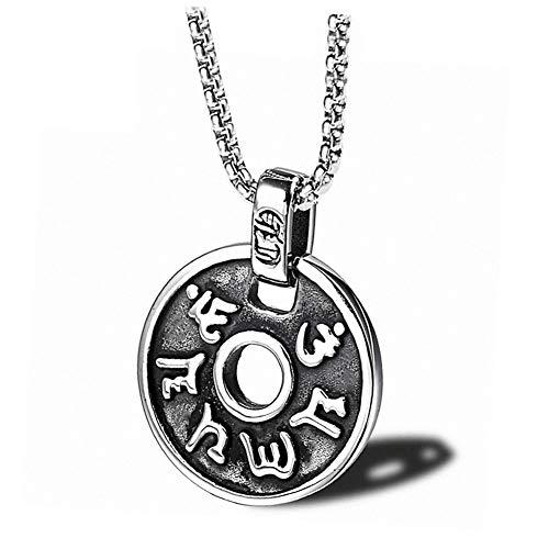 YinXX Unisex-Halskette Sanskrit Günstiger Transport Rostfreier Stahl Buddhismus Halskette Schmuckkette ist 24 Zoll