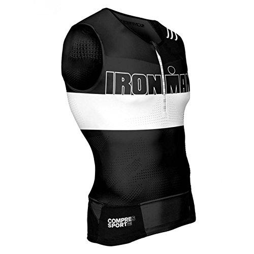COMPRESSPORT TR3 Triathlon Tank Top Unisex Ironman Edition Stripes Black Größe T3 | L 2017 Triathlon-Bekleidung