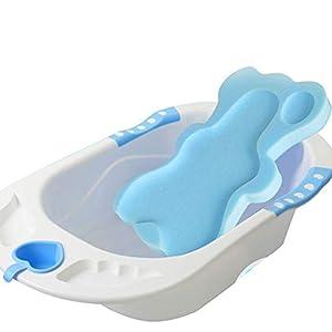 ZREAL Baby Infant Soft Bath Sponge Seat Anti-Slip Foam Mat Body Support Cushion Pad Bathroom Supplies