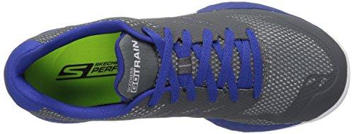 Skechers Go Train-Endurance, Scarpe Running Uomo Grigio (Charcoal/blue)
