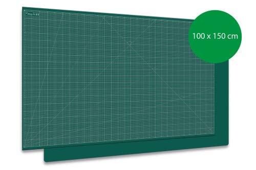 Schneidematte, Schneideunterlage PRO Line XXL groß 100x150cm 1-seitig bedruckt Grün auf Grün