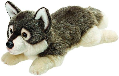 Suki Gifts 12121Liegender Wolf Peluche, 30cm, Suki Classic, 30