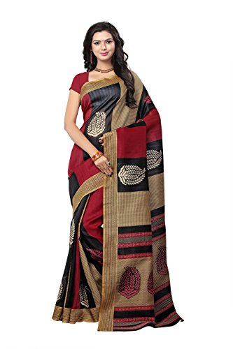 Sarees (Women\'s Clothing Saree For Women Latest Design Wear Sarees Collection in Multi Coloured Bhagalpuri Silk Material Latest Saree With Designer Blouse Free Size Beautiful Bollywood Saree For Wome