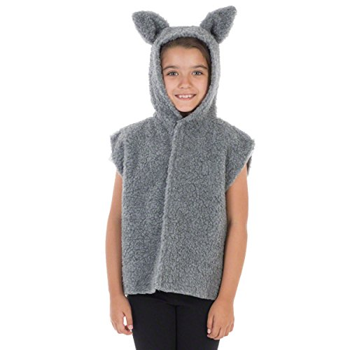 Unbekannt Charlie Crow Pelz Wolfs Kostüm Für Kinder - Einheitsgröße 3-8 Jahre.