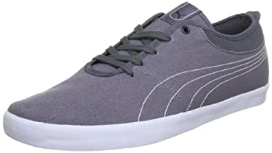 Puma  Elsu Canvas, Low-top homme - Gris - Grau (steel gray-new navy-white 01), 38 EU