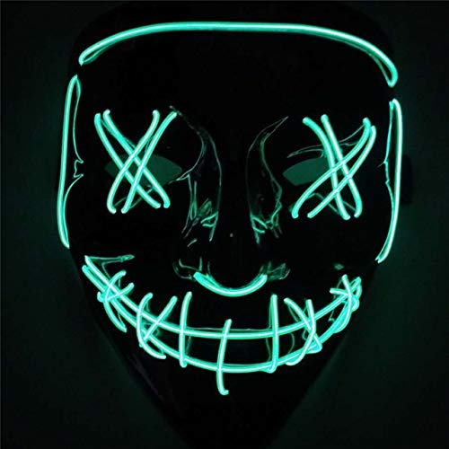 Kostüm Erwachsene Für Grüne Garde - 2019 Halloween LED Leuchtmaske für Festival Cosplay Halloween Leuchtstoff Party Maske KostümGrün