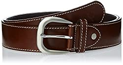 Allen Solly Mens Leather Belt (ASBLTCRE515005_Brown) (8907308120749)