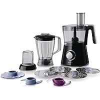 Philips HR7762/90 Robot Viva collection Noir 750 W Bol + Blender + Hachoir + Disque à Frites