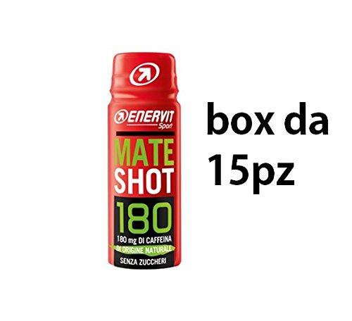 enervit Mate Shot Integratore con 180 g di Caffeina da Yerba Mate, Box 15 Shots da 60 ml