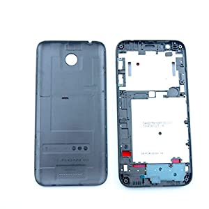 For HTC Desire 510 Black Front Housing Battery Cover Replacement Repair Part