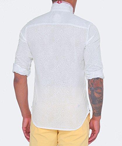 Ganesh Hommes chemise imprimée diva Blanc Blanc