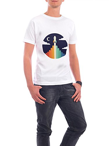 "Design T-Shirt Männer Continental Cotton ""Up"" - stylisches Shirt Motiv von Andy Westface Weiß"