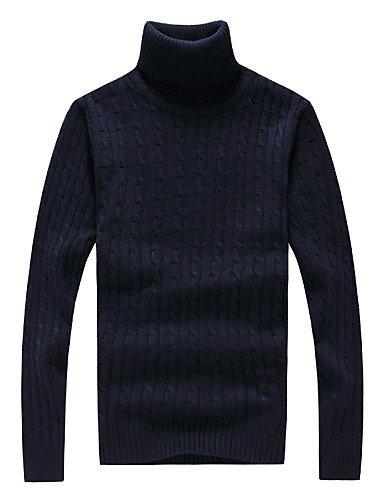 XX&GX Pullover Uomo Casual / Da ufficio / Formale Tinta unita Standard Manica lunga Poliestere Blue