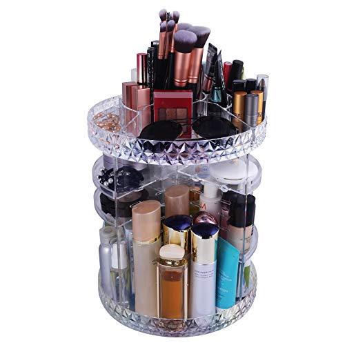 WEBI Organizador de Maquillaje Giratorio, Ajustable, Multifunción, Caja de Almacenamiento para cosméticos, Gran Capacidad, brochas de Maquillaje, pintalabios