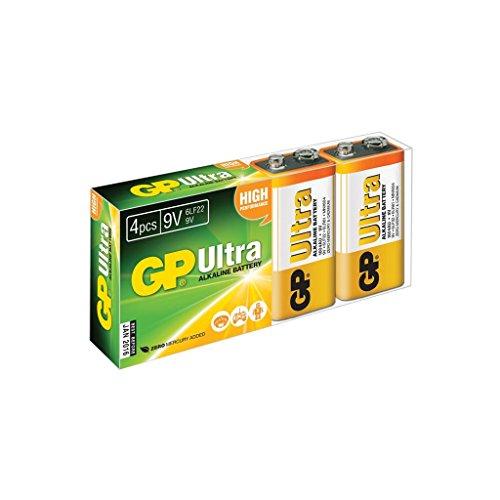 GP Batterien Ultra Alkaline 9V Batterien | Hervorragende Betriebszeit. Ultra Alkaline 9v Batterien