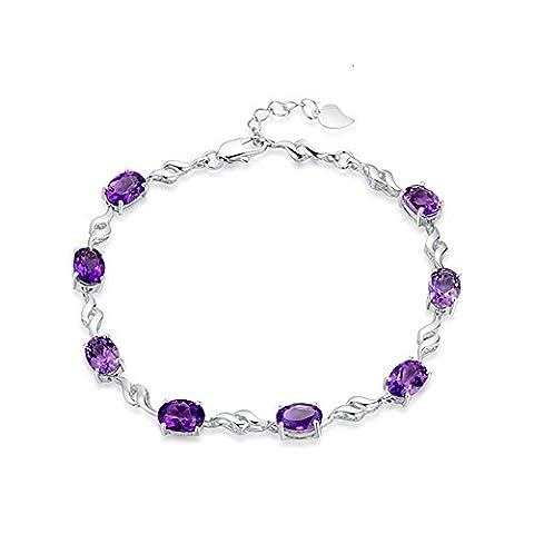 Bracelet femme - Argent fin 925 et pierres en oxyde de zirconium- Idée Cadeau Anniversaireby CJbrother