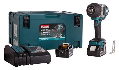 Preisvergleich Produktbild Makita dtw1002rtj 1000Nm Brushless Schlagschrauber mit 2x 5,0A Akku und Ladegerät DC18RC in einem MAKPAC Fall–blau