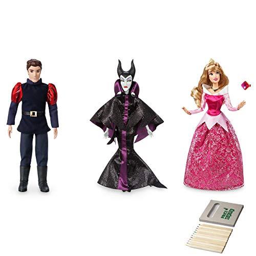 Box Kostüm Crayon - Aurora, Malefiz und Prinz Phillip Klassische Puppensammlung von Disney (Phillip / Aurora / Maleficent)