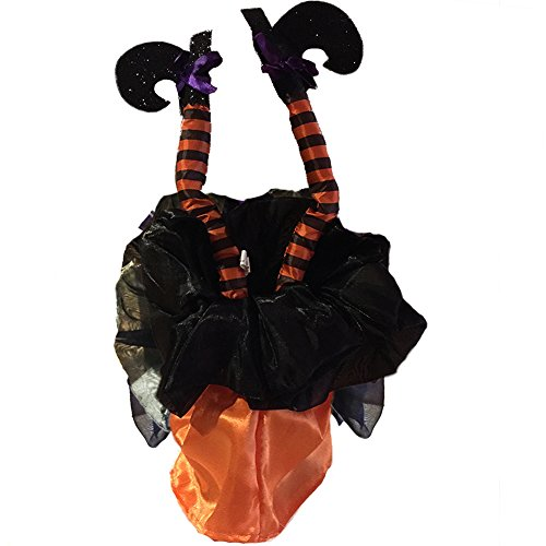 Darice Halloween Animierter Kicking Hexe Legs-Sound Aktiviert 16 inch-Orange