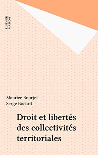 Livres gratuits Droit et libertés des collectivités territoriales pdf