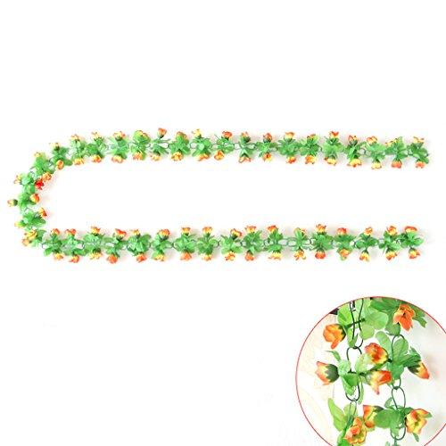 qhgstore-1pc-rose-rebe-bluht-girlande-kunstliche-blumen-anlagen-blatt-rebe-dekoration-orange