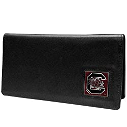 NCAA South Carolina Fighting Gamecocks  Leather Checkbook Cover