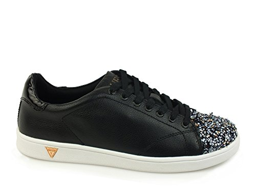Guess Super Sneakers Punta Lurex Pelle White Bianco FLSPR3-LEA12 Multicolore (Blpew)