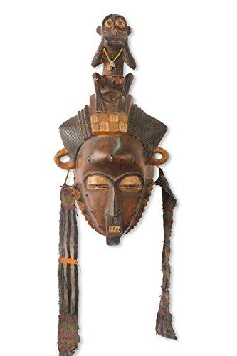 Novica 546.371,8cm Baule Sie Monkey Afrikanische Maske (Bush-maske)