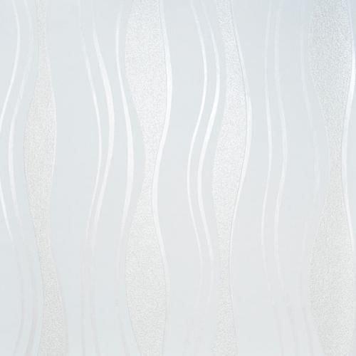 Vlies Tapete PS 13191-20 Design Wellen Linien weiß perlmutt Glitzer glänzend