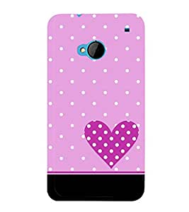 Purple Heart 3D Hard Polycarbonate Designer Back Case Cover for HTC One :: HTC One M7