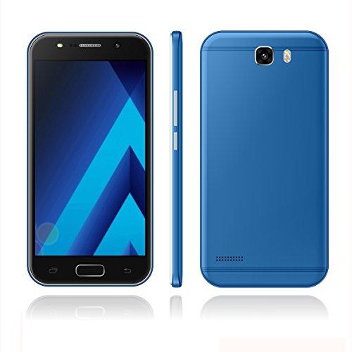 "Sim-Free Smartphone ,Unlocked 5.0"" Android 6.0 Cell Phone ,3G/GSM Dual Sim , MTK6580 Quadcore 1GB RAM + 4GB ROM / GPS Beauty HD 5.0MP Camera Moblie Phone (Blue)"