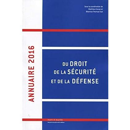Annuaire 2016 du droit, de la sécurité et de la défense
